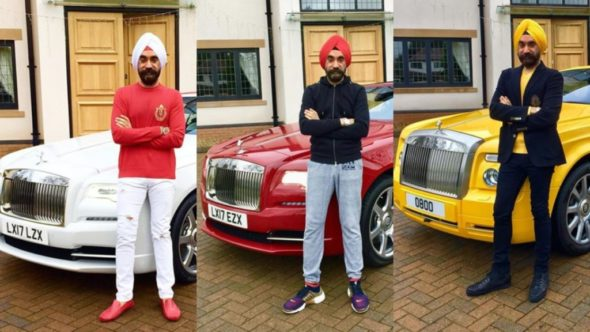Reuben Singh - Sikh Tycoon Wins Challenge By Matching His Turban Color To His Rolls Royces
