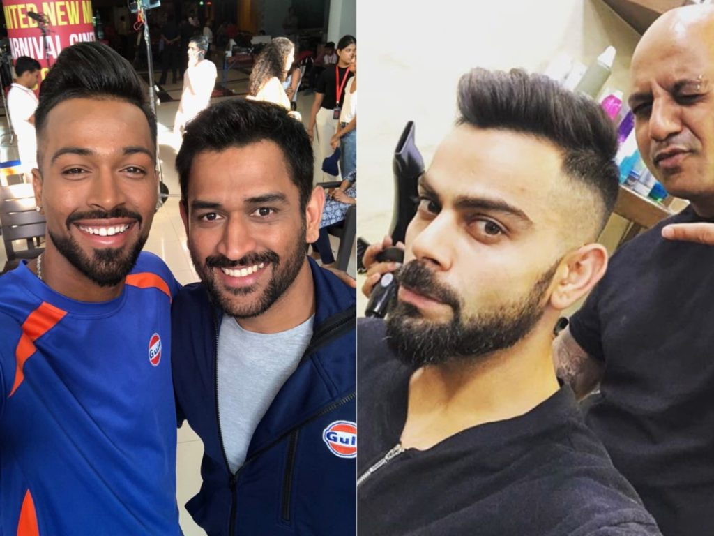 in pictures: ms dhoni and virat kohli get new look ahead of ipl 2018