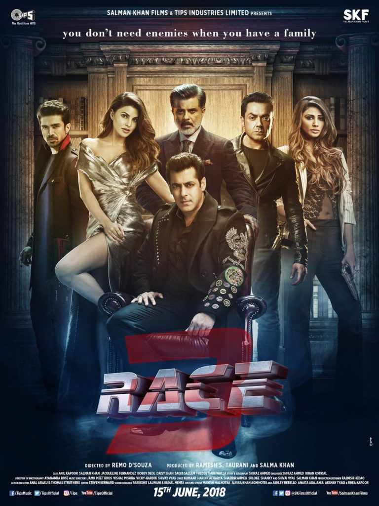 Race 3 Poster Salman Khan Aka Sikander Introduces To His Self-Obsessed Family