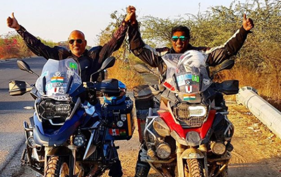 Read The Heartening Story Of These Two Indian Riders Who Travelled 68,000 Km Long World Ride On Their Bikes