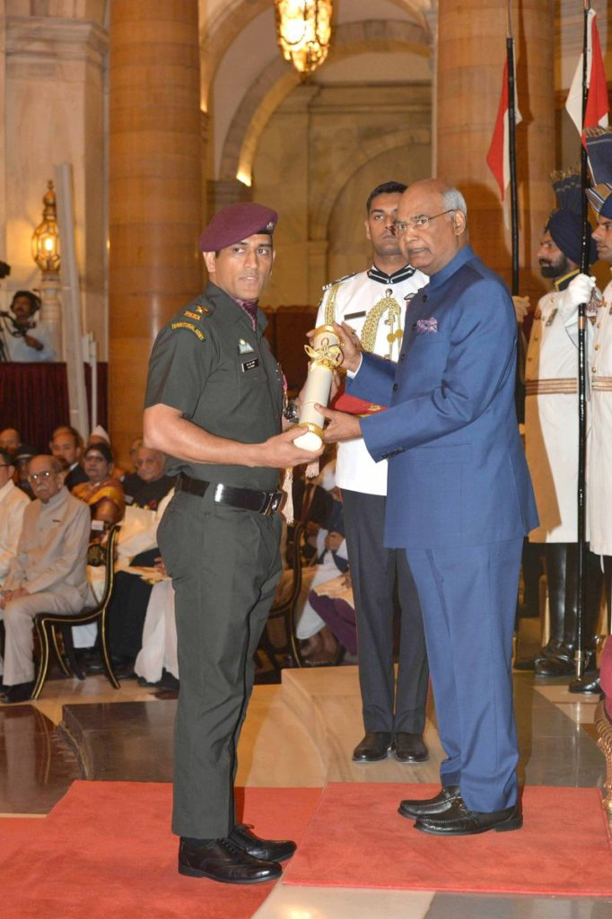 Video: MS Dhoni Receives Padma Bhushan Wearing An Army Uniform, Impresses All