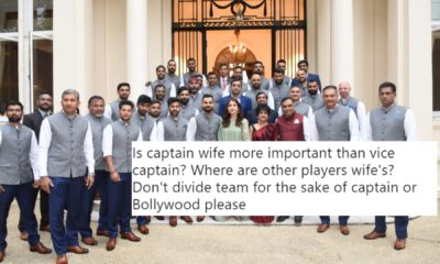 Fans Are Angry With BCCI For Allowing Anushka Sharma To Stand In Front And Making The Vice - Captain Stand In Last
