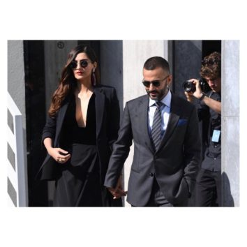 Anand Ahuja In His Dapper Suit And Sonam Kapoor In Her Elegant Getup Extent Their Charm At Milan Fashion Week
