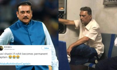 Fans On Twitter Go Mad As They Found Ravi Shastri Lookalike In Mumbai Local Train