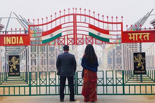 Here Is The First Picture Of Salman Khan And Katrina Kaif Shooting At Makeshift Wagah Border