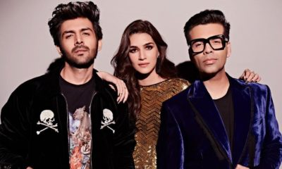 It Is K3 On Koffee With Karan As Kartik Aaryan & Kriti Sanon Make Their Debut