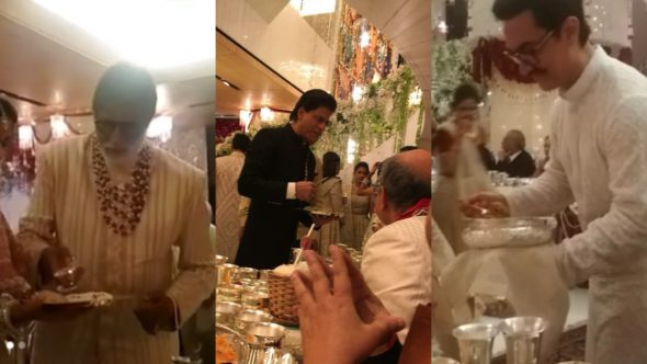 Mystery Solved! This Is The Real Reason Why Celebs Served Food At Isha Ambani's Wedding