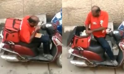 Zomato Delivery Guy Caught Eating Food From Packet And Sealing It Back, Video Viral