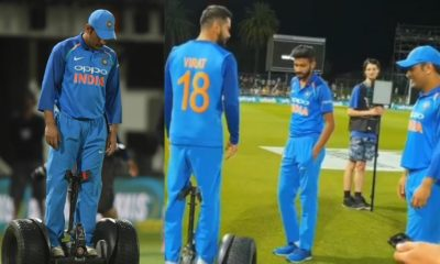 ICC Takes A Funny Dig At MS Dhoni As He Rides Segway After Winning The First ODI Against New Zealand