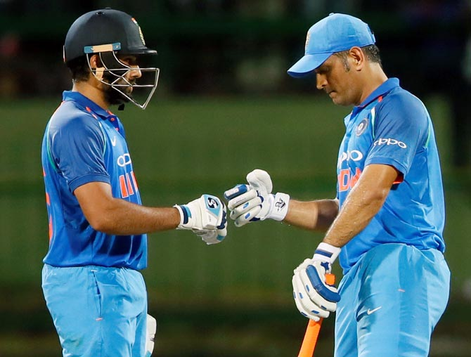 Vice-Captain Rohit Sharma Speaks On The Role That MS Dhoni Plays In The Team.