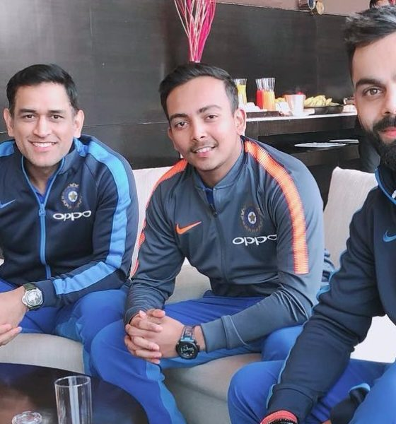 This Photo Of Prithvi Shaw With Virat Kohli & MS Dhoni Is A Dream Picture Of Every Cricket Fan