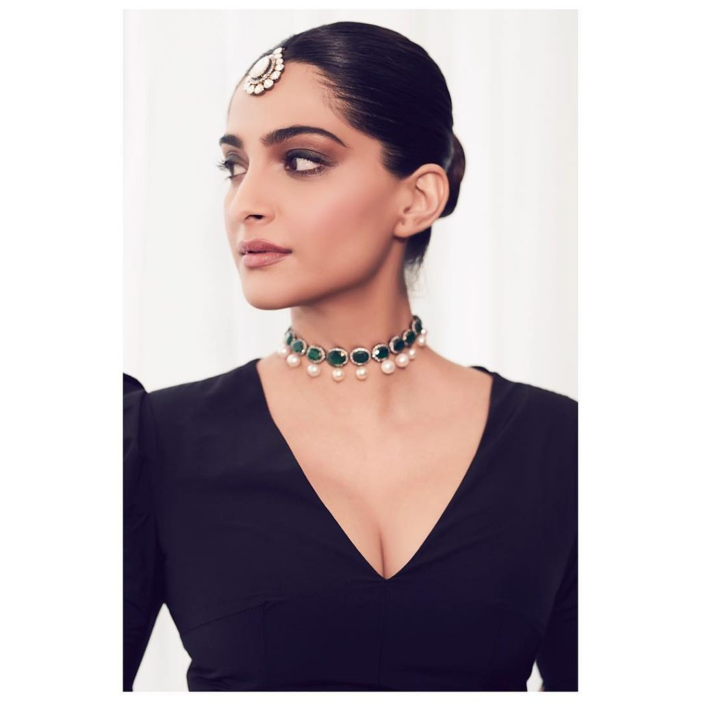 Sonam Kapoor Looks Incredibly Gorgeous In A Marmar Halim Gown In Doha (1)